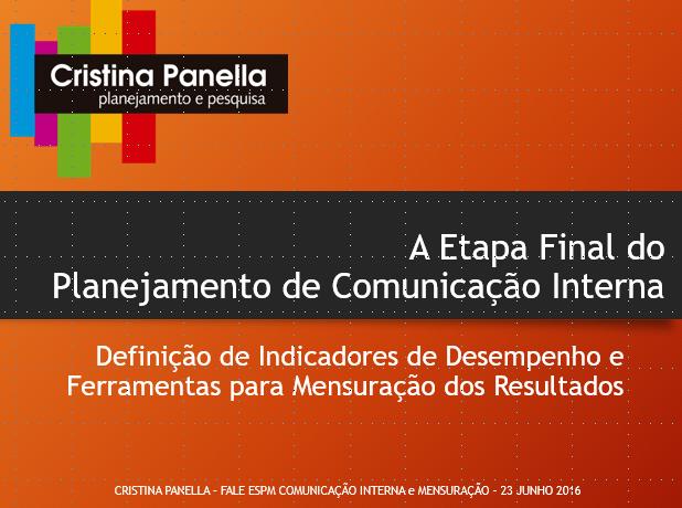 Indicadores de Comunicação Interna