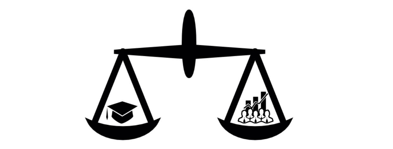 Equilíbrio entre o mercado e a academia